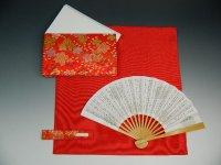 茶道入門セット 1,840円 5点 袱紗(赤) 利休挟み(赤系色) 女性用 お稽古セット 茶道具
