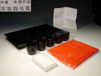 茶歌舞伎セット 茶歌舞伎棗(木製本漆塗り) 表千家用 茶道具