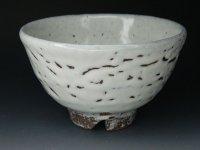 萩焼 白萩 カイラギ抹茶碗 茶道具