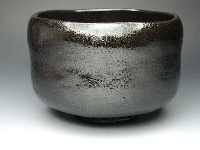 画像1: 黒楽茶碗 並 健一郎作 新品 茶道具