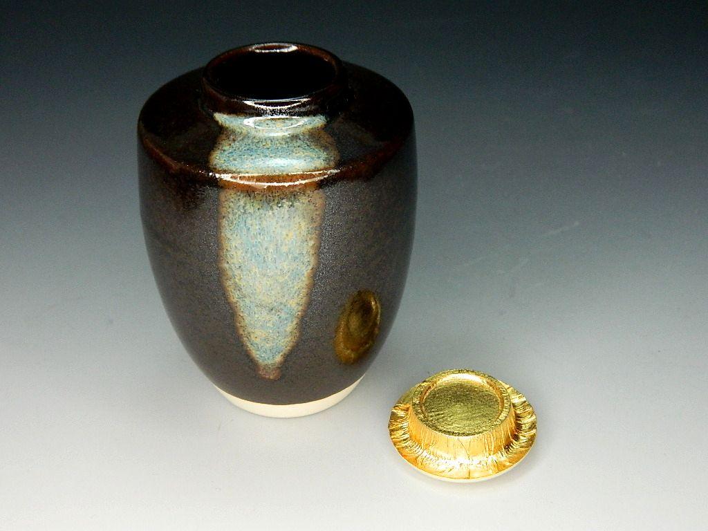 画像3: 茶道具 肩衝茶入 龍村美術織物 獅子狩文錦 濃茶器 濃茶入 新品