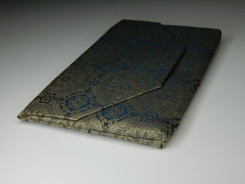 画像4: 和装小物 チャック付き小物入れ 正絹(絹100%) 仕覆:唐花蜀江