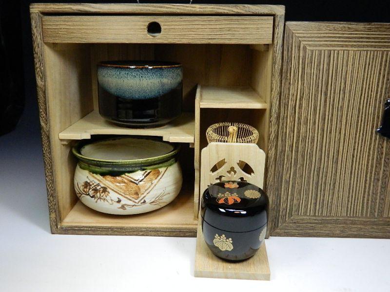 画像3: 茶道具揃え お点前揃え 茶棚付き 茶道具