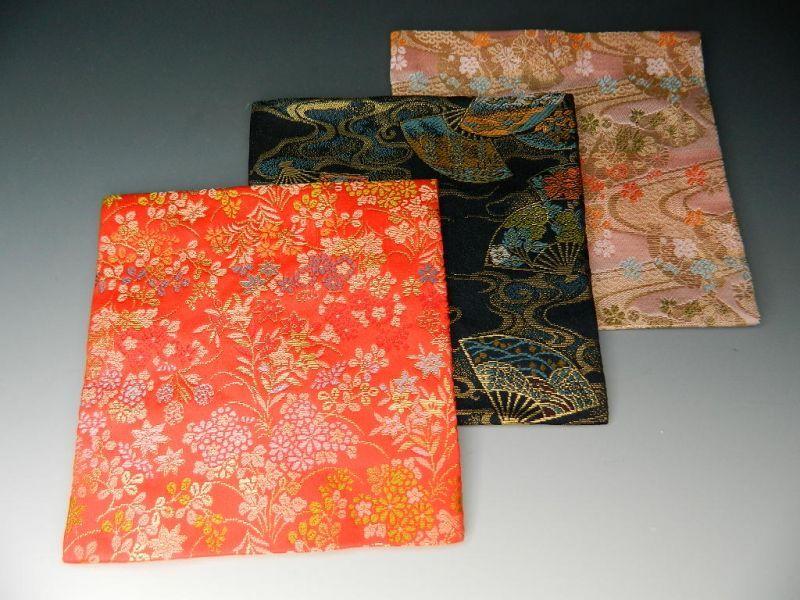 画像1: 茶道具 古袱紗(こふくさ) 交織 お色をお選べいただけます【赤・紫・ピンク】