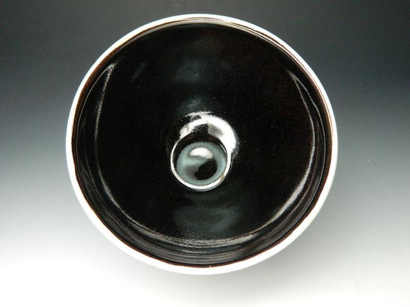 画像3: 天目茶碗(縁:銀仕上げ) 桶谷定一(京都)伝統工芸士 日本の伝統文化 茶道具