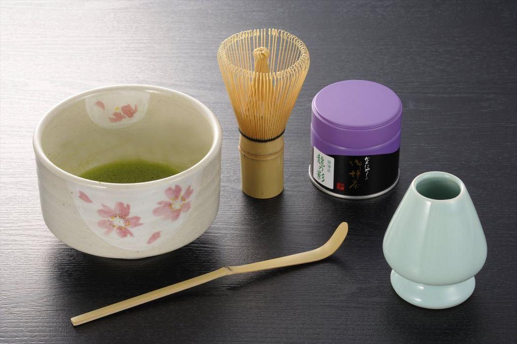 画像5: お抹茶セット 花柄の抹茶茶碗付 茶筅直し付き お抹茶5点セット 茶道具