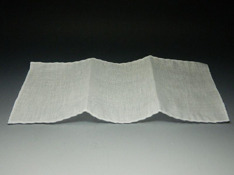 画像2: 茶巾 奈良上片麻茶巾 袋付き 新品