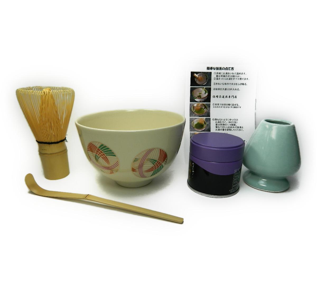 画像1: 抹茶碗が選べる 美濃焼 お抹茶セット 茶道具